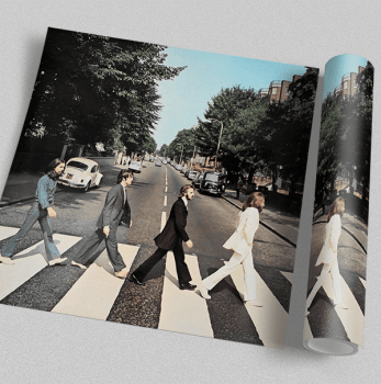 Quadro Beatles Abbey Road - Rock Vinil na Parede