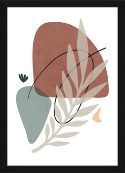 Quadro Decorativo Abstrato Plantas Folhagem 2
