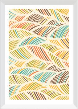 Quadro Decorativo Abstrato Folhas