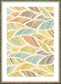 Quadro Abstrato Folhas