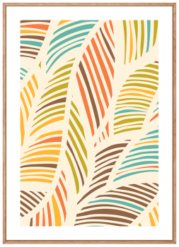 Quadro Abstrato Folhas 2