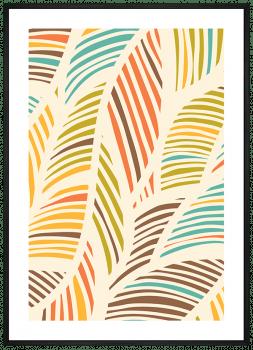 Quadro Decorativo Abstrato Folhas 2