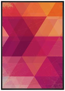 Quadro Decorativo Abstrato Geométrico Rosa