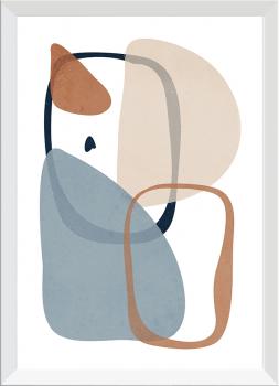 Quadro Decorativo Abstrato Orgânico Nude Neutro