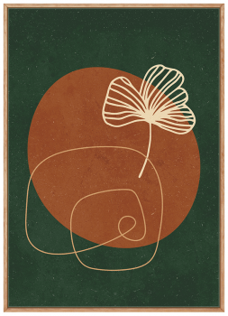 Quadro Abstrato Verde Vasos e Plantas 3