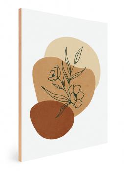 Quadro Decorativo Abstrato Verde Vasos e Plantas 4