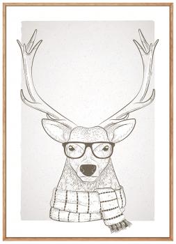 Quadro Decorativo Alce Hipster