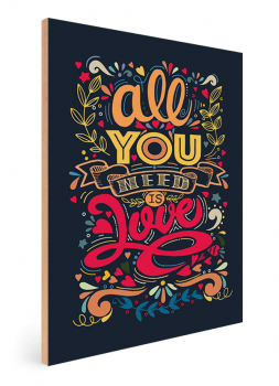 Quadro Decorativo Beatles All You Need is love