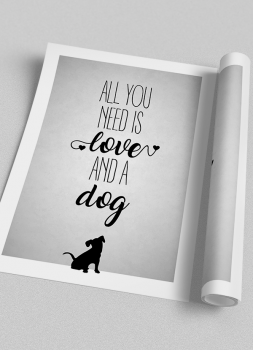 Quadro Cachorro Pet Dog - All You Need