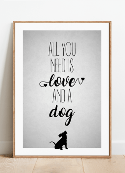 Quadro Decorativo Cachorro Pet Dog - All You Need