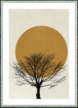 Quadro Decorativo Paisagem Abstrato Árvore