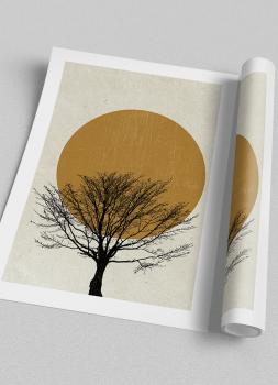 Quadro Abstrato Árvore