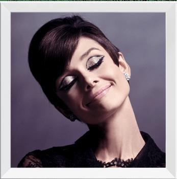 Quadro Decorativo Audrey Hepburn Fotografia