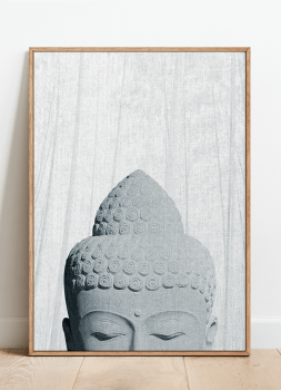 Quadro Buda Fundo cinza