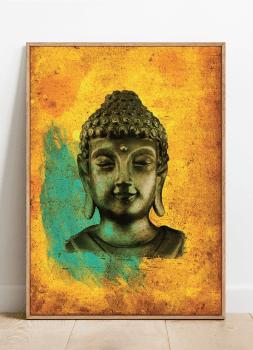 Quadro Buda Fundo Amarelo