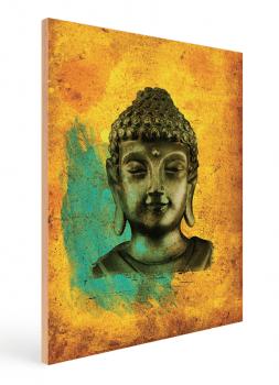 Quadro Decorativo Buda Fundo Amarelo