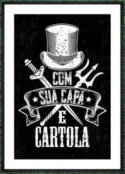 Quadro Umbanda Exu - Capa e Cartola
