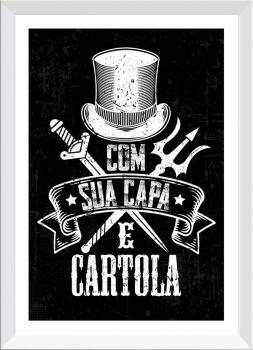 Quadro Decorativo Umbanda Exu - Capa e Cartola