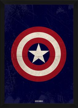 Quadro Decorativo Capitão América - Super-Heroi
