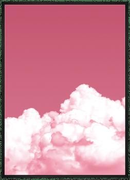 Quadro Decorativo Paisagem Céu Nuvem Rosa