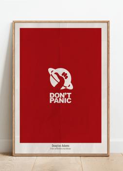 Quadro Douglas Adams Don't Panic