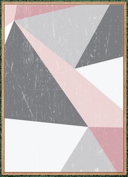 Quadro Escandinavo Geométrico Rosa