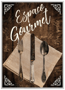 Quadro Decorativo Cozinha Espaço Gourmet