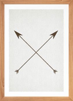 Quadro Decorativo Étnico Flechas Cruzadas