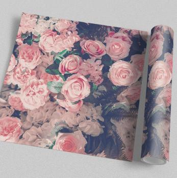 Quadro Flores Rosa Nude