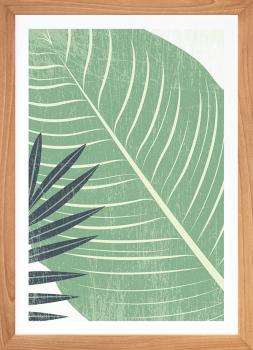 Quadro Decorativo Folhagem Estampa Tropical Verde 2
