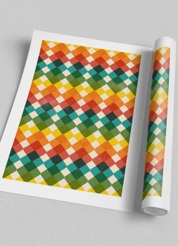 Quadro Geométrico Colorido