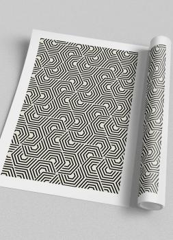 Quadro Abstrato Geométrico Hexagonal étnico