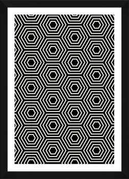 Quadro Decorativo Abstrato Geométrico Hexagonal étnico 2