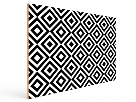 Quadro Decorativo Geométrico Étnico Preto e Branco