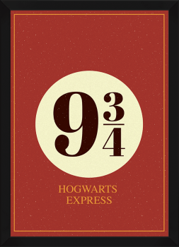 Quadro Decorativo Harry Potter - Plataforma