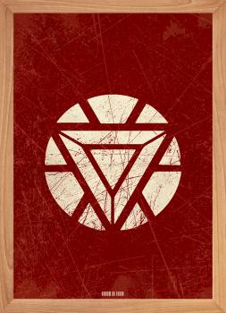 Quadro Decorativo Homem de Ferro - Super-Heroi