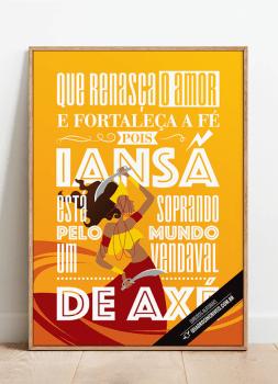Quadro Decorativo Umbanda Orixá Iansã - Sandro Luiz