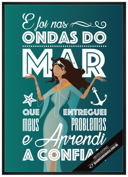 Quadro Decorativo Umbanda Orixá Iemanjá - E foi nas ondas do Mar 3