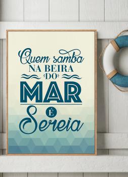 Quadro Decorativo Umbanda Orixá Iemanjá - Quem samba no mar