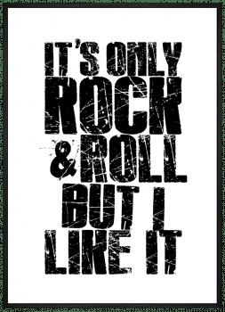 Quadro Decorativo It's Only Rock n' Roll