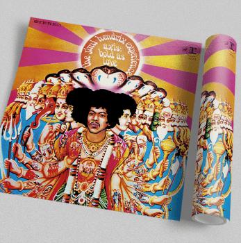Quadro Jimi Hendrix - Rock Vinil na Parede