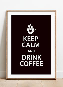 Quadro Cozinha Keep Calm Coffee Café