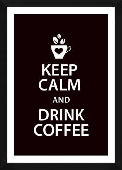 Quadro Decorativo Cozinha Keep Calm Coffee Café