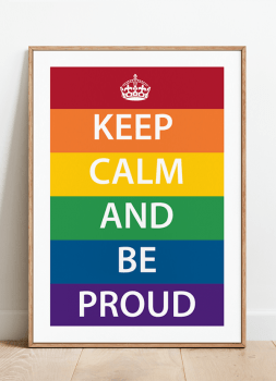 Quadro Decorativo Keep Calm Proud Orgulho LGBT