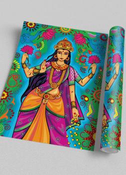 Quadro Decorativo Lakshmi Deusa indiana