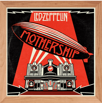 Quadro Decorativo Led Zeppelin - Rock Vinil na Parede