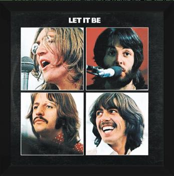 Quadro Decorativo Beatles Let it be - Rock Vinil na Parede