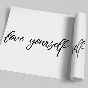 Quadro Love Yourself frase