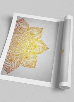 Quadro Mandala Amarela