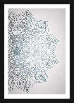 Quadro Decorativo Mandala Azul